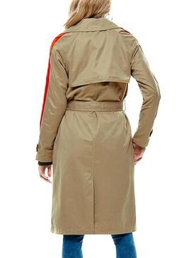 Trench Only Sabella Long Tostado Mujer