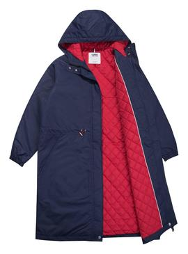 Parka Tommy Jeans Waisted Azul Mujer