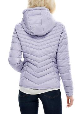 Chaqueta Only Demi Hooded Malva Mujer