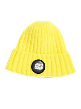 Gorro Superdry Super Chunky Amarillo Mujer