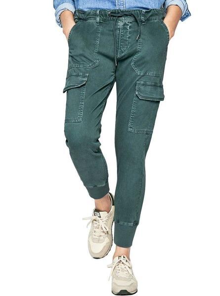 Pantalon Pepe Jeans Crusade Verde Para Mujer