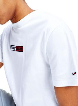 Camiseta Tommy Jeans Embroidered Blanco