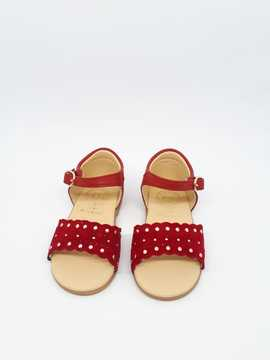 SANDALIA RUTH SECRET,TACHUELAS ROJO
