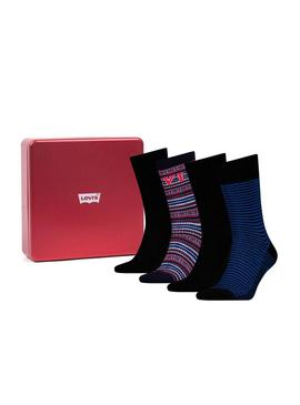 Pack Calcetines Levis Giftbox Azul Para Hombre