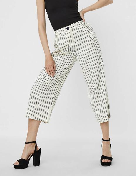 Pantalon Vero Moda Tela Listas Ancho Para Mujer